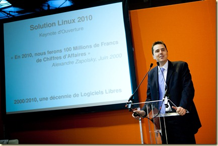Alexandre Zapolski Linagora au Salon Solution Linux 2010 (8)