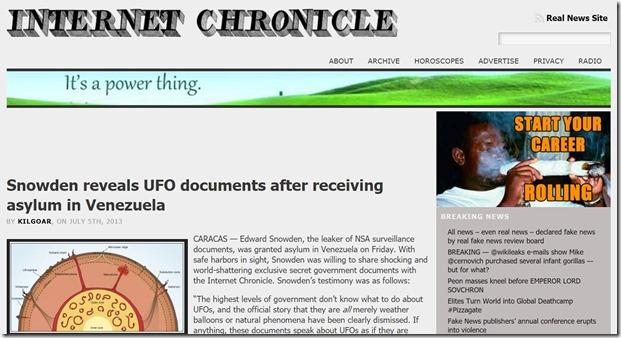 Internet Chronicle Fake Snowden News