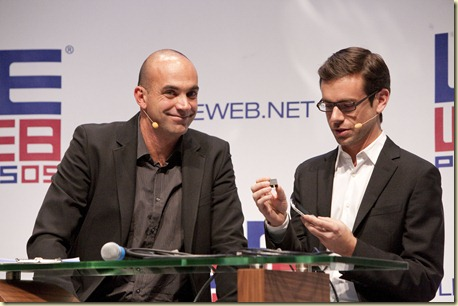 Jack Dorsey and Loic Lemeur