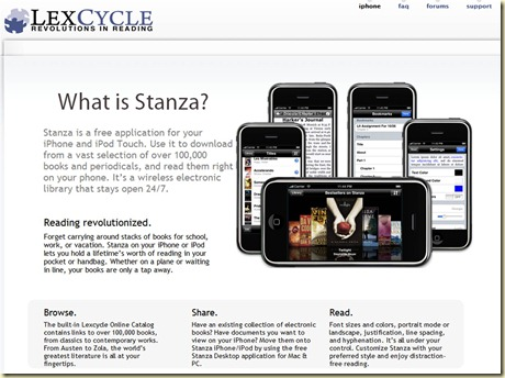 Lexcycle Stanza home page