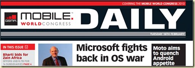 Microsoft Fights back in OS War MWC 2010