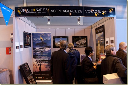 Stand Objectif et Nature au Salon de la Photo 2009