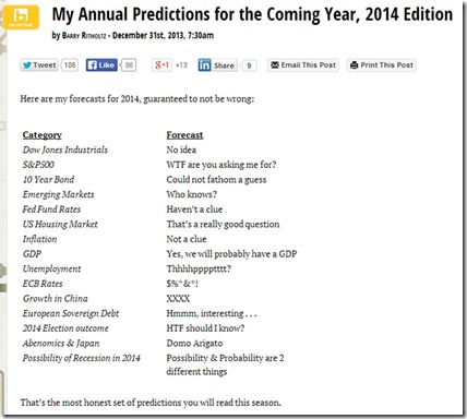 Predictions 2014