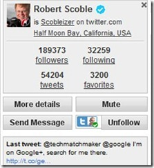 Robert Scoble Twitter account