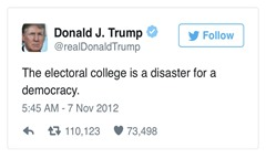 Trump on electoral college
