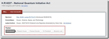 National Quantum Initiative Act status