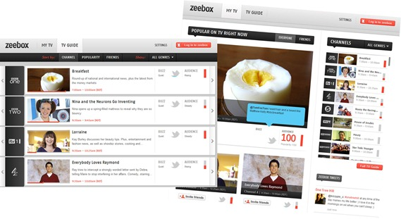 Zeebox screens