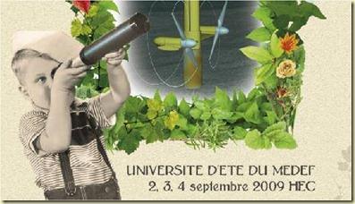 Affiche Recherche des Temps Nouveaux MEDEF HEC 2009