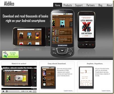 Aldiko Home Page