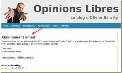 Blog Olivier Ezratty - Abonnement email