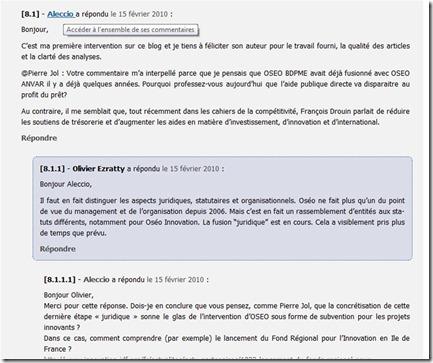Blog Olivier Ezratty Commentaires Imbriqués