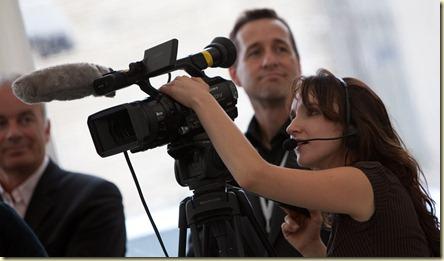 Camerawoman Université Eté MEDEF 2009