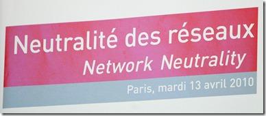 Colloque ARCEP Neutralité des réseaux Apr2010