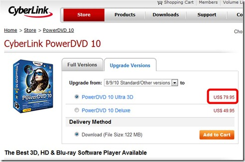 Cyberlink PowerDVD upgrade path