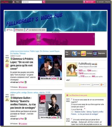 FullHDReady HomePage on LePost.fr