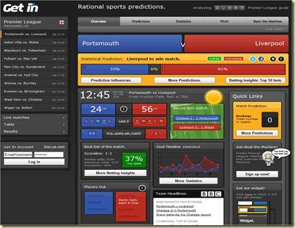 GetIn Sports Predictions Leweb 2009 Startup