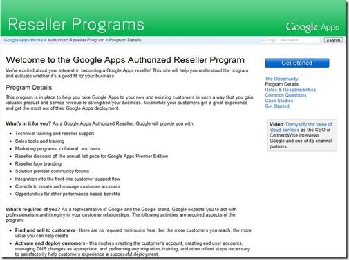 Google Reseller Programs