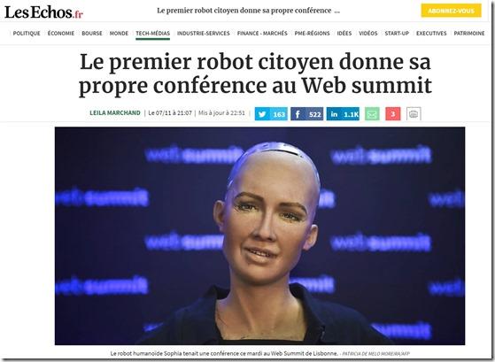 Hanson Robot Les Echos Web Summit