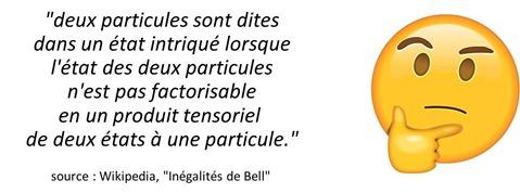 Inégalites de Bell