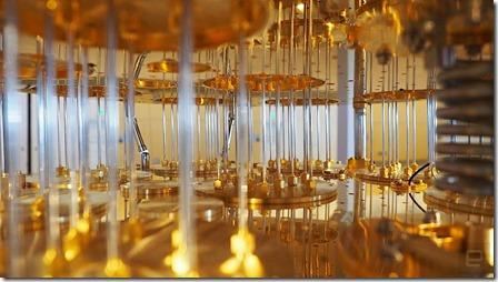 Interieur ordinateur quantique IBM