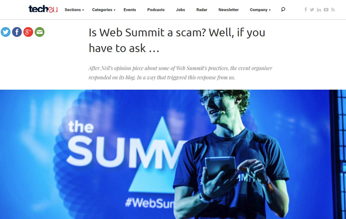Is Web Summit a scam