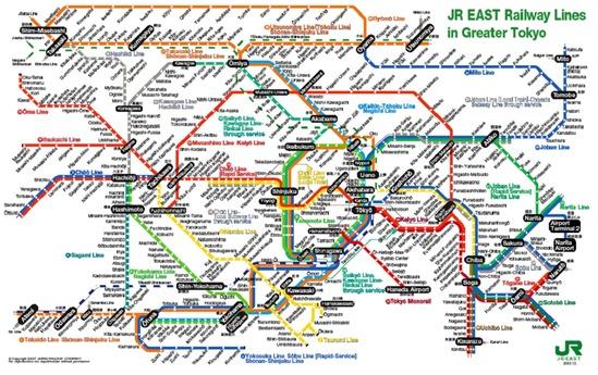 JREast Tokyo Map