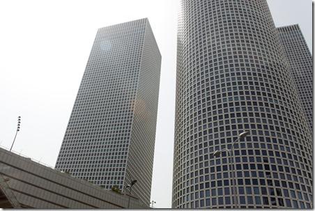Les tours Azrieli de Tel Aviv