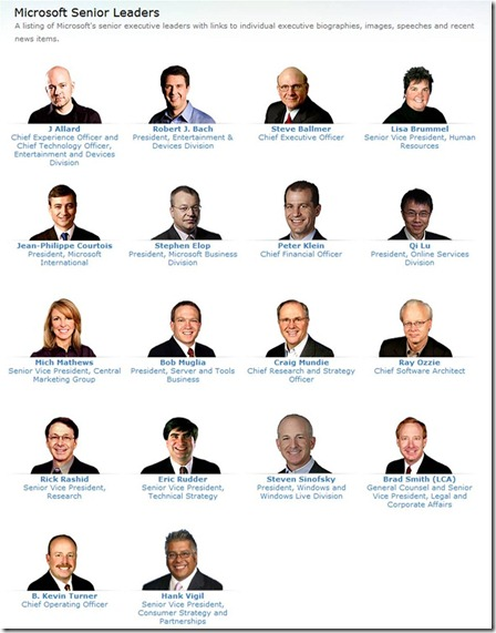 Microsoft Executives