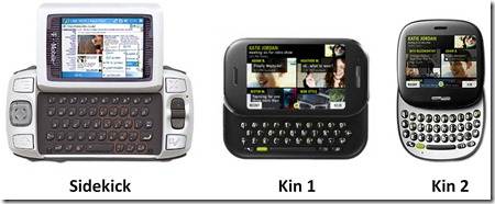 Microsoft Sidekick and Kin