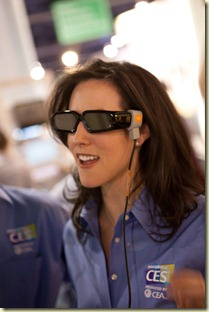 Mode des lunettes noires 3D