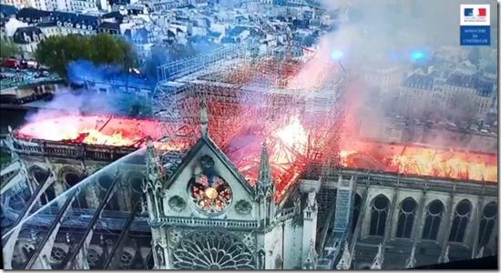 Notre Dame Drones Prefecture de Paris