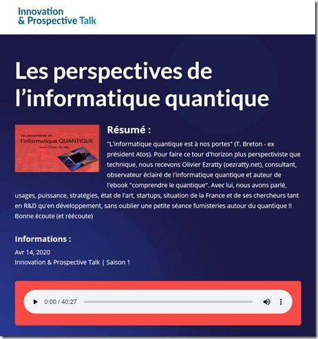 Perspectives Informatique Quantique