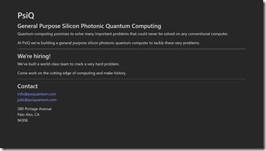 PsiQ home page