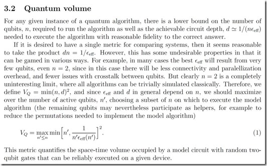 Quantum Volume Explained