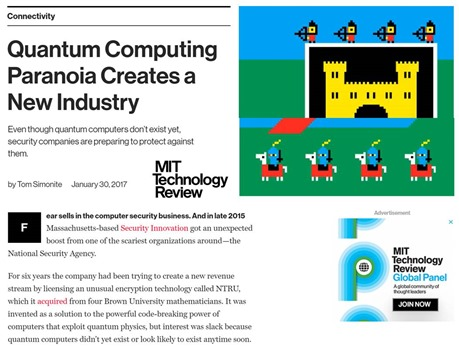 Quantum computing paranoia creates a new industry