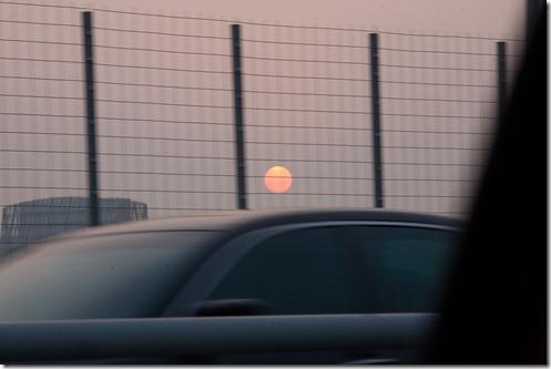 Rare soleil à Shanghai
