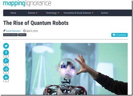 Rise of quantum robots