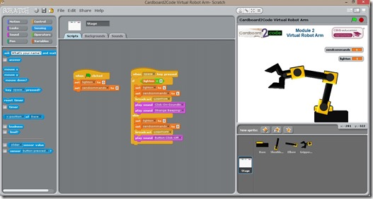 Scratch robot programming