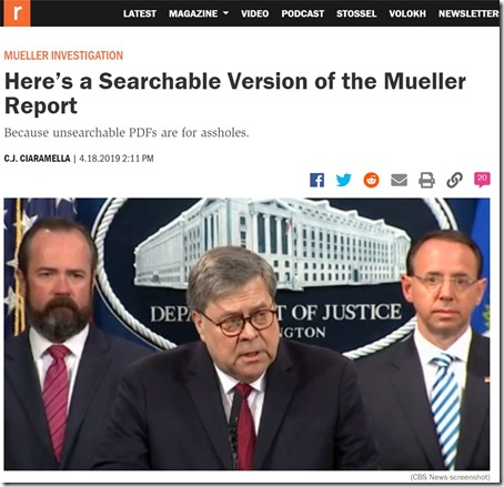Searchable Mueller Report