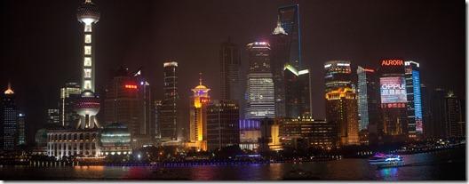 Shanghai View from the Bund Panoramic 1