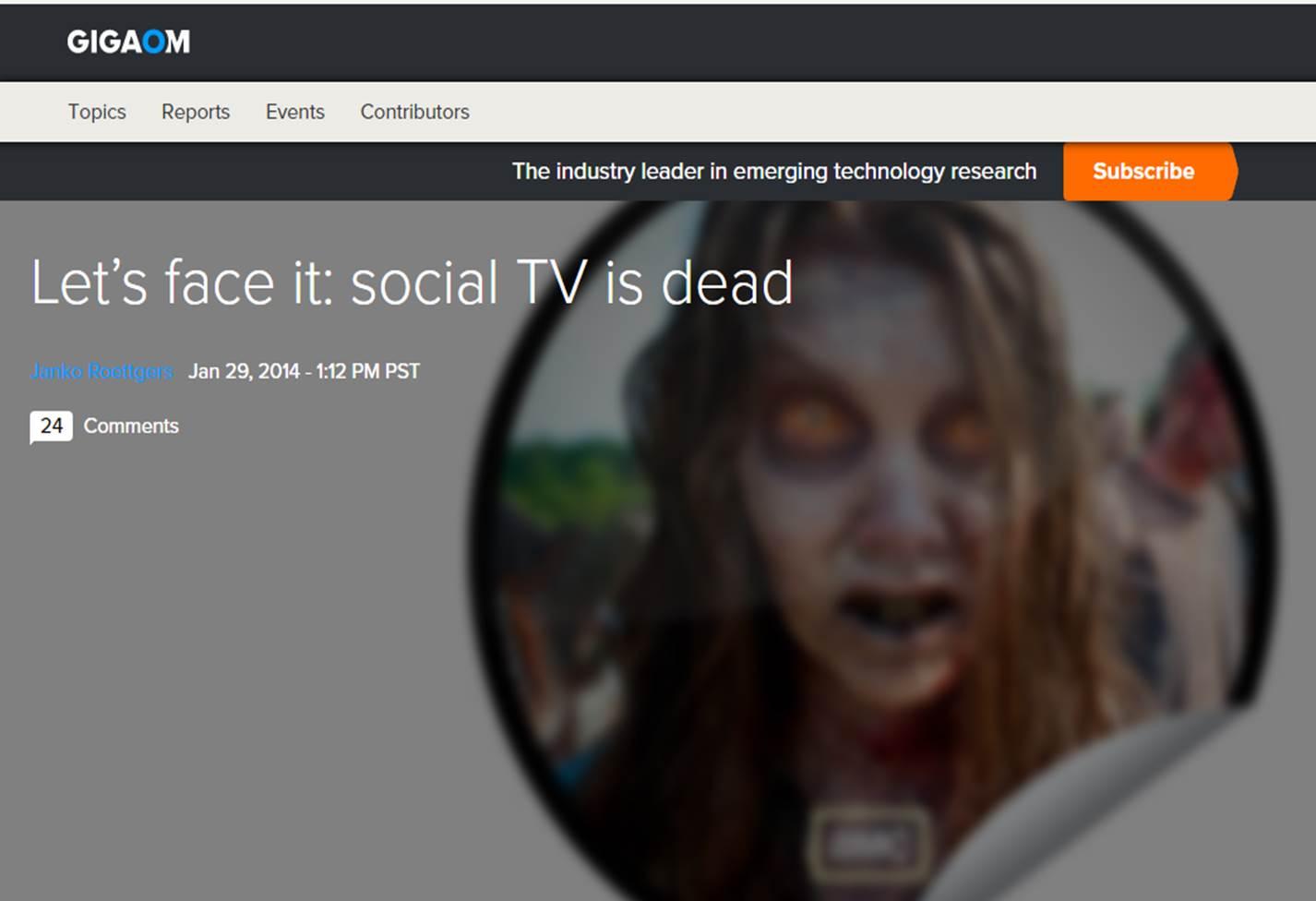 Social TV Dead