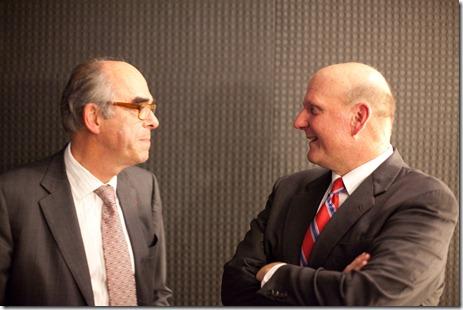 Steve Ballmer et Bernard Vergnes 2009 (2)