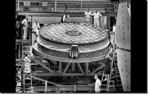 Telescope Mont Palomar Miroir