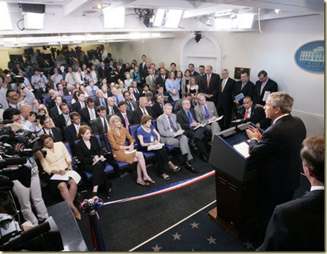 White House Press Room with LED lighting