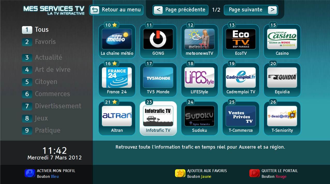 Accueil MesServicesTV