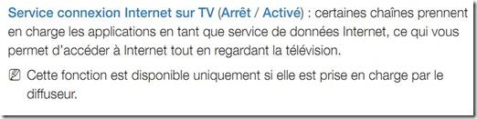 Activation HbbTV Samsung