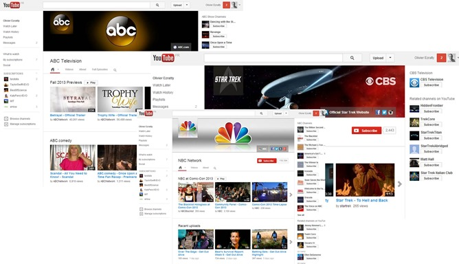 ABC CBS NBC on YouTube