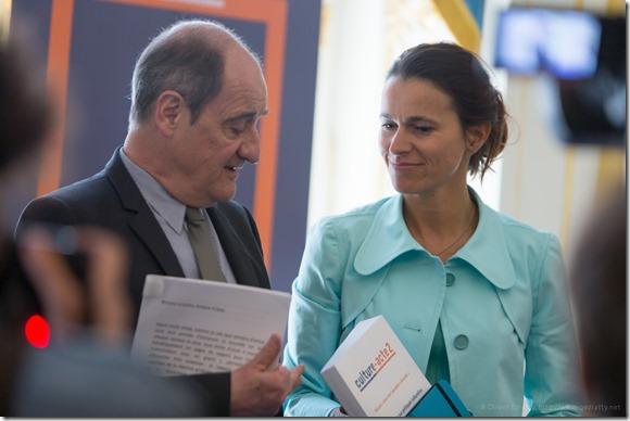 Pierre Lescure et Aurélie Filippetti (1)