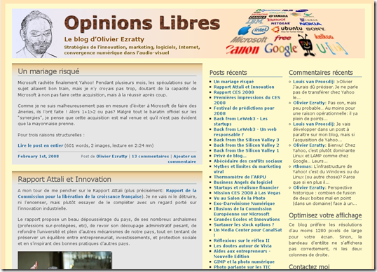 Look Opinions Libres 2006