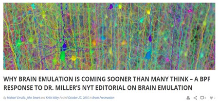 Brain Emulation Coming Sooner